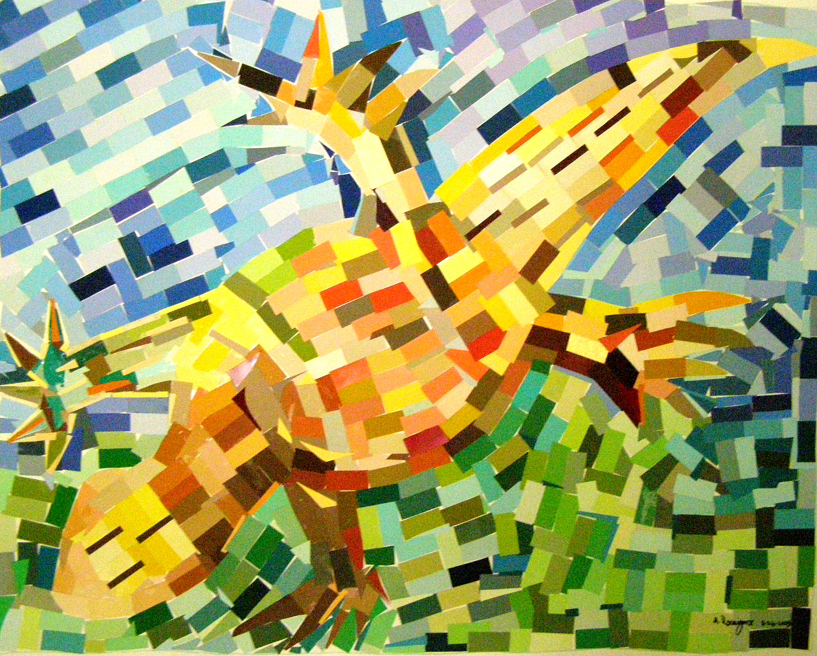 MosaicLizard8-26-2009PapierCollage32x40in..jpg