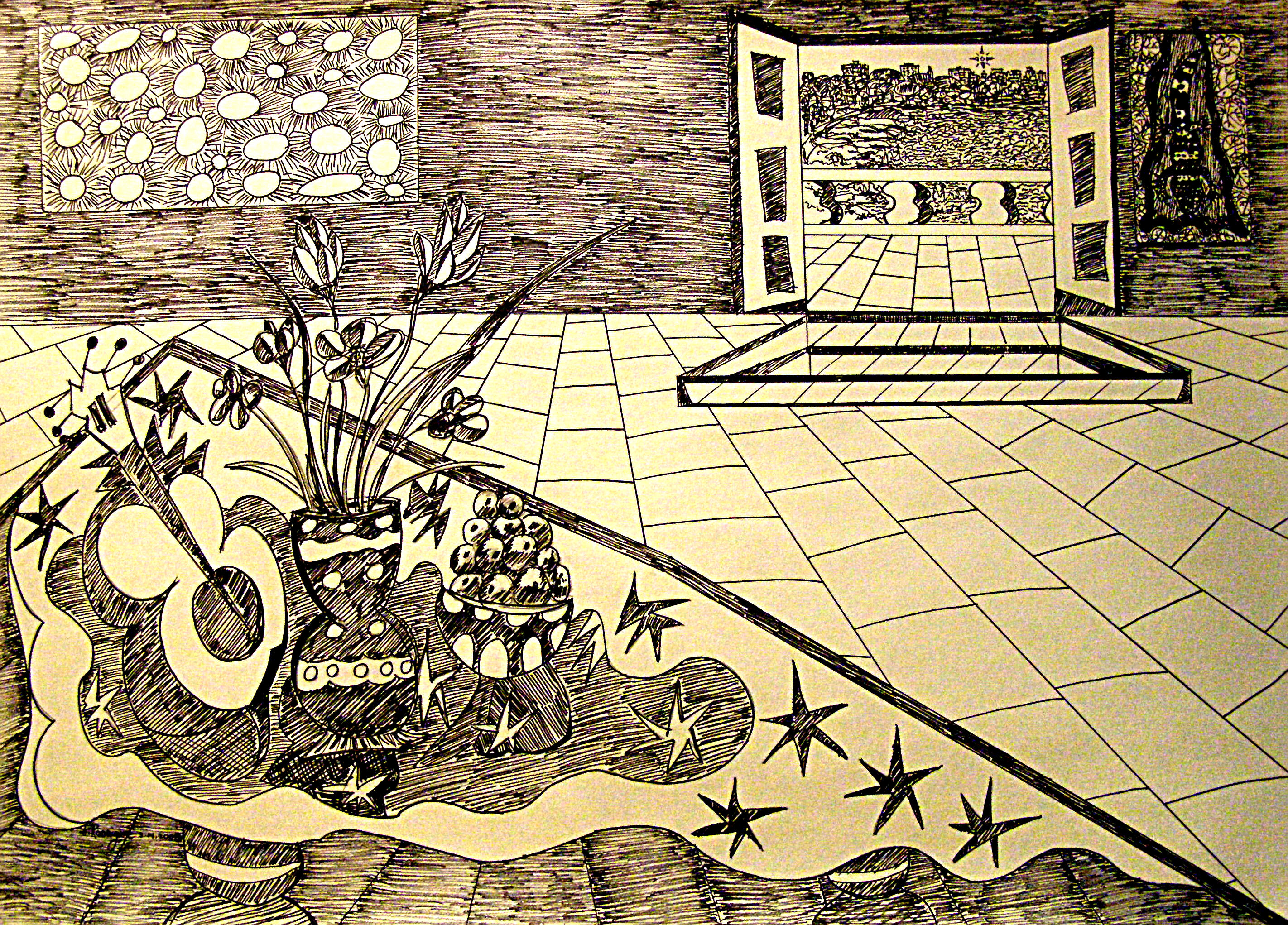 StillLifeWithGilaMonstersI-3-14-2008ink30x42in1.jpg
